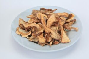dried mushrooms in a plate