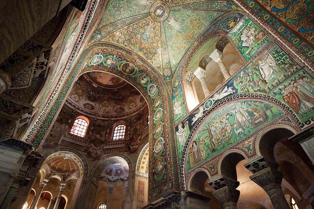 Mosaic decoration was quite popular in the Byzantine architecture.