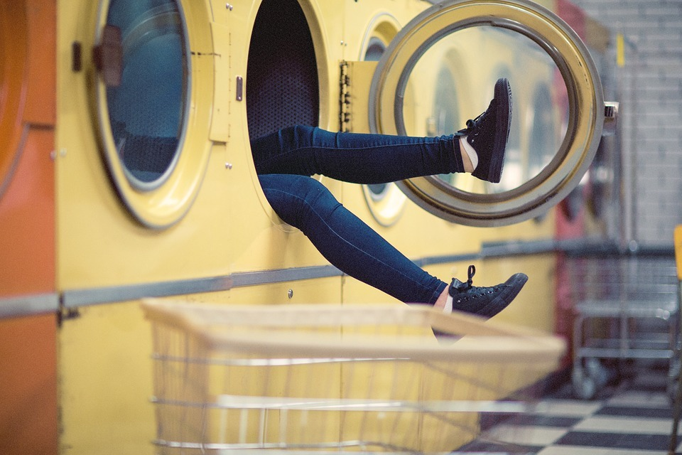 Save water while doing laundry.
